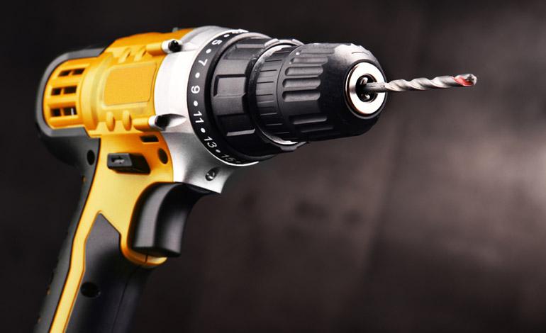 cordless drill close view