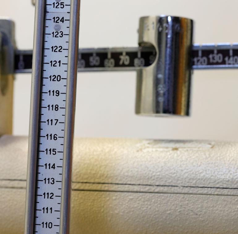 measuring rod near scales